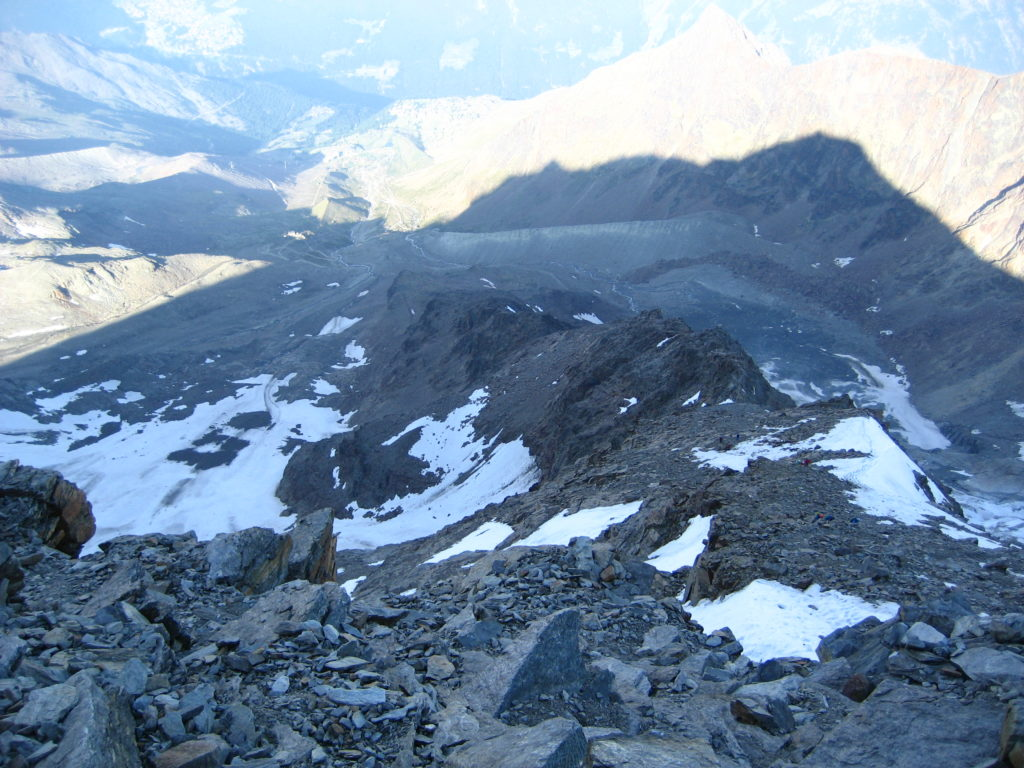 The WSW ridge from its upper part