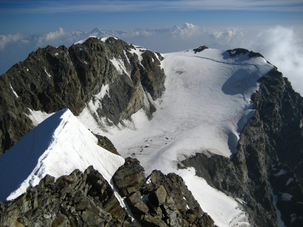 Fletschhorn from the Lagginhorn summit