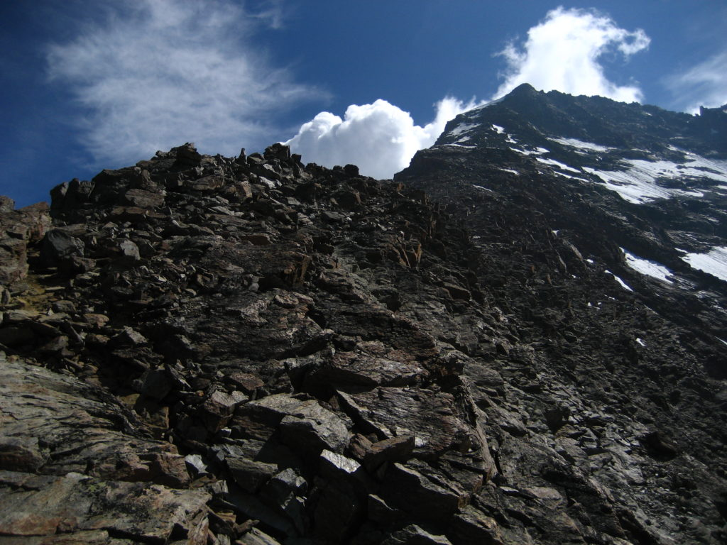 The WSW ridge from its lower third
