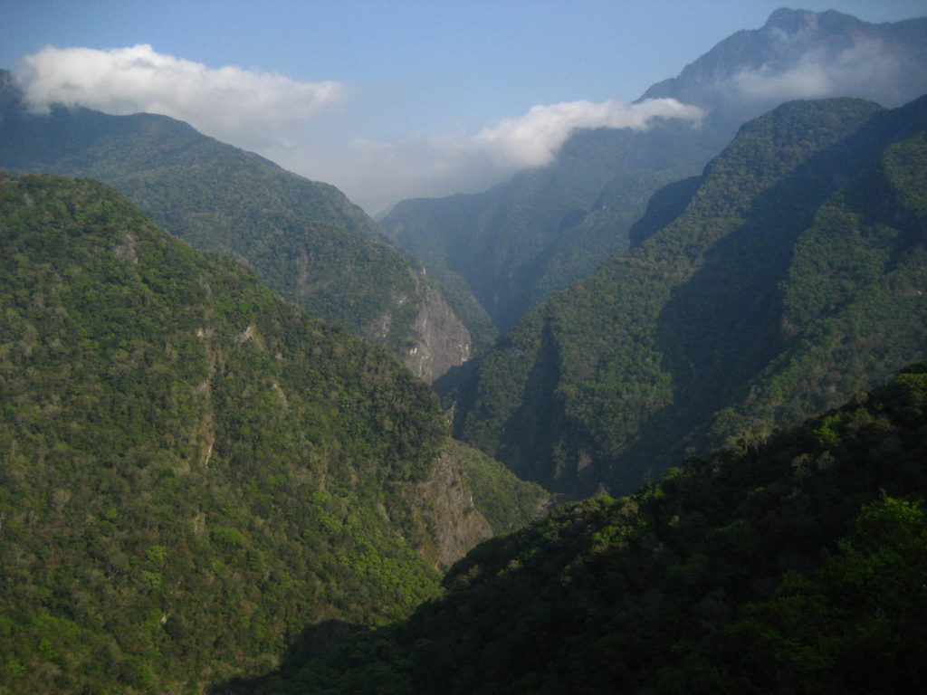 Taroko National Park - view from the ridge above Lushui to the east (Wenshan-Lushui trail)