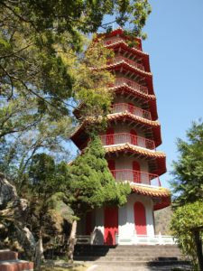 Tianfeng Pagoda, part of the Xiangde Temple complex, above Tianxiang